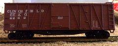 CAROLINA, CLINCHFIELD & OHIO R.R. (clinchfield) OUTSIDE BRACED WOOD BOXCAR HO DECAL SET