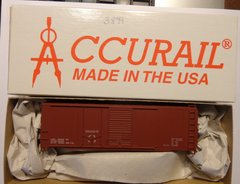 ACCURAIL 3899 HO SCALE 40 FT PSI TYPE COMBO DOOR BOXCAR, OXIDE, DATA