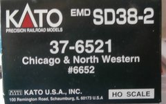 KATO HO CHICAGO NORTHWESTERN #6652 SD38-2 USED LOCOMOTIVE BOX