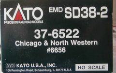 KATO HO CHICAGO NORTHWESTERN #6656 SD38-2 USED LOCOMOTIVE BOX