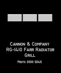 CANNON & CO #1410 Radiator Grille