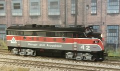 "BOWSER ""EXECUTIVE LINE"" BANGOR & AROOSTOOK #42 EMD F3A SOUNDTRAXX SOUND/DCC"