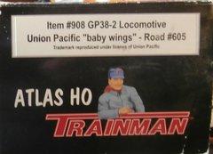 ATLAS TM GP38-2 UP BABY WINGS #605 USED LOCOMOTIVE BOXES