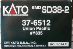 KATO HO UNION PACIFIC SD38-2 USED LOCOMOTIVE BOX