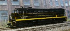 Rivarossi HO ATLANTIC COAST LINE #3016 GE U25C with Digitrax DCC Installed