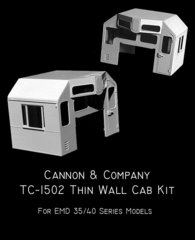 CANNON & CO #1502 ALL EMD 35 & 40 SERIES THINWALL CAB KIT
