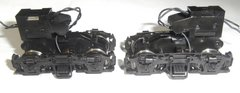 "ATLAS MASTER SERIES HO PARTS BLOMBERG TYPE ""B"" GP38/GP40 BLACK POWER TRUCKS"