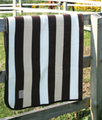 Whitney Stripe navy Fleece