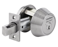 Medeco 11603-26 Maxum Commercial Deadbolt High Security Restricted M3 Keyway Satin Chrome Finish