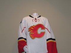 Pro Stock Calgary Flames Goalie Jerseys White