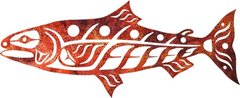 Wild Alaska Salmon, Single Autumn Batik Lasercut Appliqué