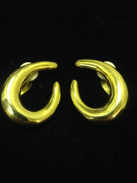 Goldtone Clip on Earrings