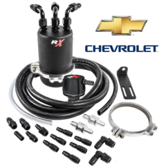 MONSTER CHEVY SILVERADO, COLORADO, CANYON, GMC SIERRA 2014, 2015, 2016, 2017, 2018 RX DUAL VALVE CATCH CAN