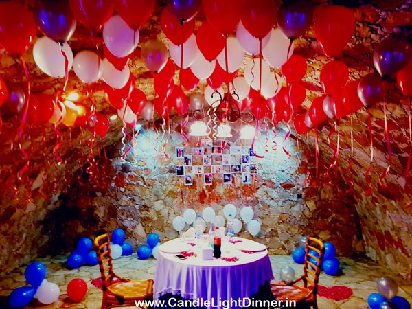 Romantic Date with Decoration in Vadodara Candle Light Dinner