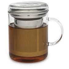 Glass Mug and Infuser Basket