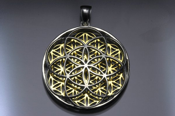seed of life flower of life pendant lovelightproductions