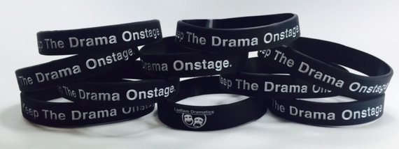 Live Life Dramatically Apparel By Ludlam Dramatics: Keep The Drama Onstage - Rubber Bracelet 10 Pack