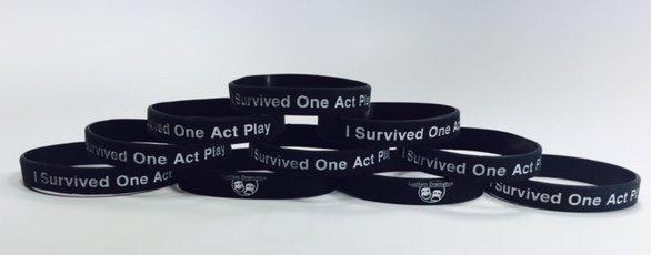 Live Life Dramatically Apparel By Ludlam Dramatics: Rubber Bracelet 10 Pack