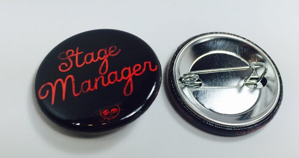 Live Life Dramatically Apparel By Ludlam Dramatics: Stage Manager - Button 10 Pack