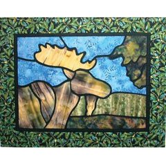 P218 - Stained Glass Moose