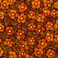 F - Garden For Olivia, Orange Posies