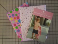 K - Baby Blanket Kit, Flannel Pink Polka Dots
