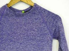 Seamless Purple Long Sleeve Top