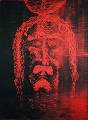Shroud of Turin Study (red)