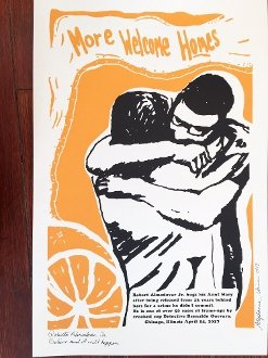 More Welcome Homes hand screened poster