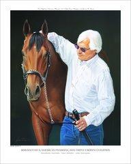 American Pharoah and Bob Baffert Officially Licensed Open Edition Print