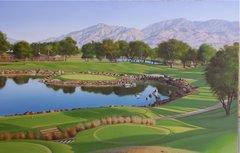 "Original Oil Painting, size 30x46"". PGA West, Pete Dye Course, California."