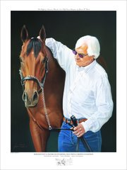 American Pharoah and Bob Baffert Officially Licensed Dual Signed Limited Edition Print