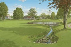 "Original Oil Painting, size 24x36"". Firestone Golf and Country Club."