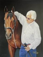 American Pharoah and Bob Baffert Officially Licensed Dual Signed Limited Edition Canvas Giclee