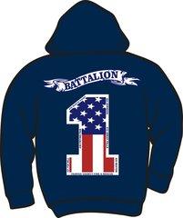 Battalion 1 Zipper Hoodie