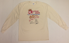 Al's Steakhouse - 60 years by Donnie Strother long-sleeve T-shirt - click for shirt colors