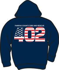FS402 Flag Heavyweight Zipper Hoodie
