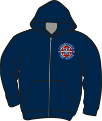 Laguna Vista Fire-Rescue Lightweight Zipper Hoodie
