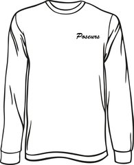 Poseurs Long-Sleeve T-Shirt with Left Chest