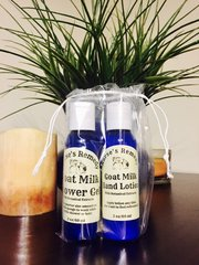 Goat Milk Duo: Travel Size Shower Gel and Body Lotion
