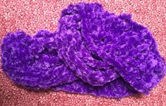 Scarf, Fuzzy Knit, Color: Purple