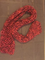 Scarf, Loose Knit, Color: Red