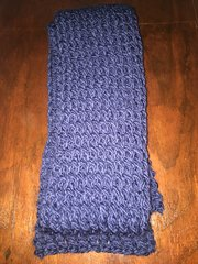 Scarf, Knit, Navy Blue