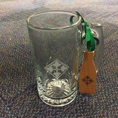 4th ID beer mug with bottle opener set