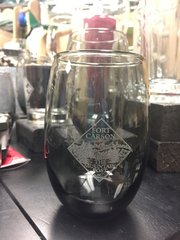 Mountain Post Stemless Glass - Smoke