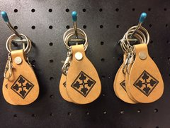 4th ID Leather Key Fob
