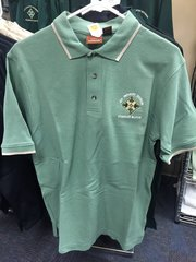 Green polo shirt