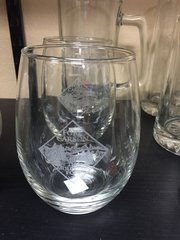 Mountain Post Stemless Wine Glass