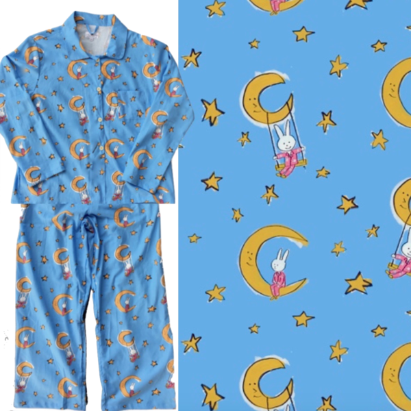 Women's Pajama Set. LaLa on the Moon. Made in America.