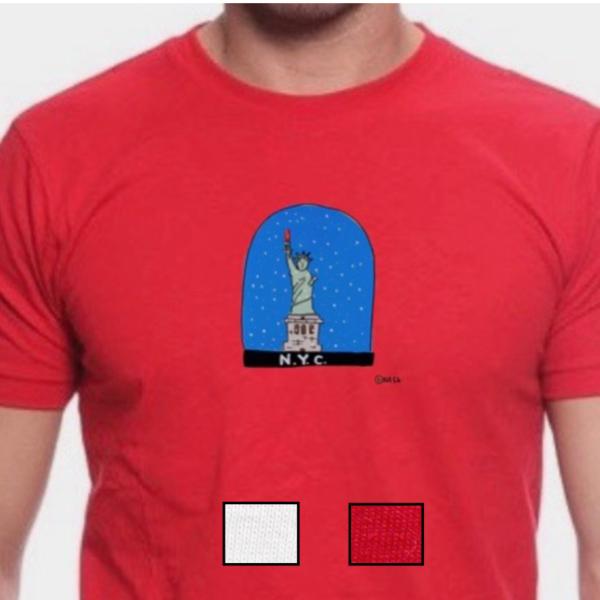 Snow Globe: NYC Statue of Liberty, t-shirt